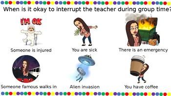 Editable Bitmoji Interruptions Poster