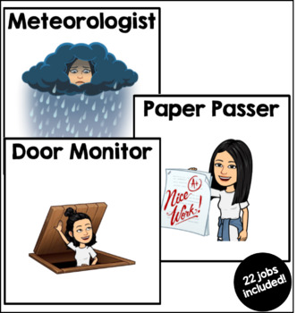 EDITABLE Bitmoji Job Cards
