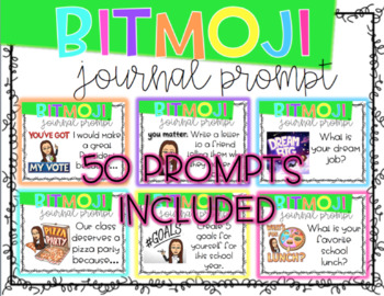 Bitmoji Journal Prompts