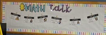 Bitmoji Math Talk Bulletin Board