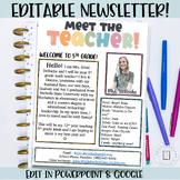 Meet The Teacher Newsletter Template | EDITABLE |  Bitmoji Theme