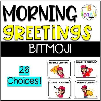 Bitmoji Morning Message and Morning Greeting Bundle