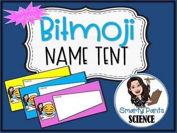 Bitmoji Name Tents Back to School EDITABLE