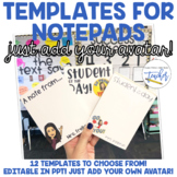 Notepad Templates {Insert Your Own Avatar}