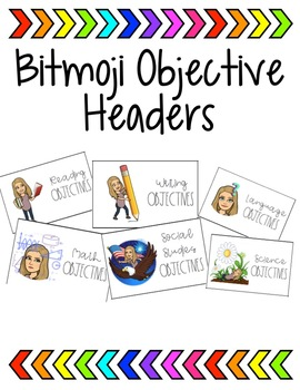 Bitmoji Objective Headers