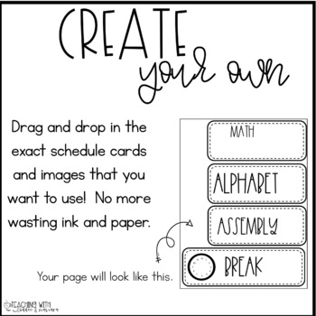 Bitmoji Schedule Cards {Add your own Bitmoji, 40+ cards, plus they are editable!
