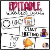 Editable Bitmoji Schedule Cards Printable & Digital
