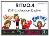Bitmoji Self Evaluation Rubric - Editable