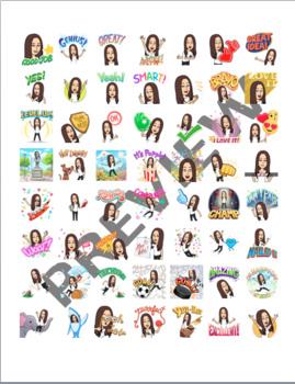 Bitmoji Stickers (brunette)