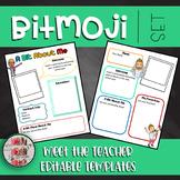 Bitmoji Themed Editable Meet The Teacher Editable Templates