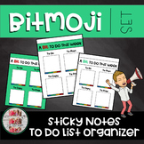 Bitmoji Themed Sticky Note Organizer To Do List Post-it List (freebie)