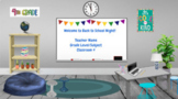 Bitmoji Virtual Classroom Back to School Night Open House Google Slides Template