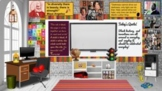Black History Month Virtual Classroom Template w/activity