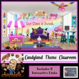 Bitmoji Virtual Classroom-Candyland Theme (Inc. 5 Interactive Links)