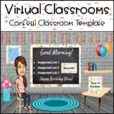 Bitmoji Virtual Classroom Template Confetti Birthday