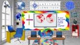 Bitmoji Virtual Classroom Template Latitude and Longitude Distance Learning