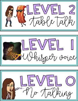Bitmoji Voice Level Chart