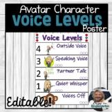 Bitmoji Voice Level Poster Editable