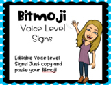 Editable Bitmoji Voice Level Signs