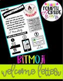 Bitmoji Welcome Letter - Google Drive Template