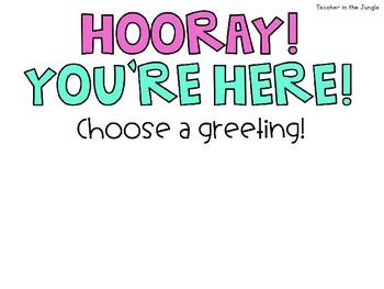 Bitmoji Welcome Sign: Choose a Greeting