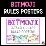 Bitmoji Classroom Rules Posters