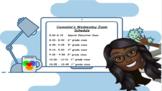 Bitmoji Zoom Schedule Editable!