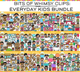 Bits of Whimsy Clips: Everyday Kids Clip Art GROWING Bundle