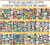Bits of Whimsy Clips: Everyday Kids Clip Art  GROWING Bundle -  FOUR