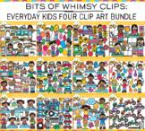Everyday Kids Clip Art Bundle -  FOUR