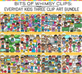 Bits of Whimsy Clips: Everyday Kids Clip Art Bundle - THREE