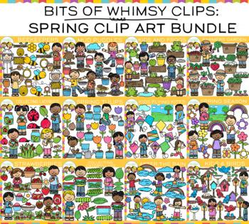 Bits of Whimsy Clips: Spring Clip Art Bundle {Springtime Clip Art}