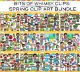 Spring Clip Art Big Bundle {Bits of Whimsy Clips Springtime Clip Art}