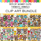 Bits of Whimsy Clips: Thematic Animals Clip Art Bundle