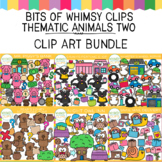 Bits of Whimsy Clips: Thematic Animals TWO Clip Art GROWING Bundle