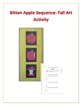 Bitten Apple Sequence: Fall Art Activity