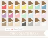 Bitten Chocolate Bar Clipart; Easter, Candy, Halloween, Valentines, Treat