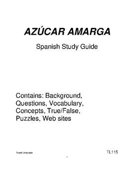 Bitter Sugar-Spanish Study Guide