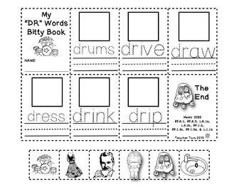 Blends & Digraphs Worksheets | Literacy Centers Kindergarten 1st Grade