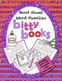 Books Short Vowels Worksheets | Word Families Kindergarten 1st Grade | CVC Words