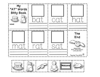 Short Vowels Worksheets | Word Families Kindergarten 1st Grade | CVC Words