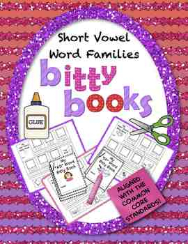 Bitty Books:  Short Vowel Word Families