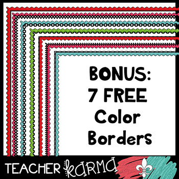 Bitty Borders + 7 FREE Colorful Borders: Little Borders Perfect for Extra Space