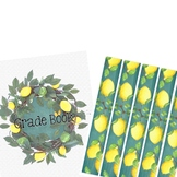 Bitty Dots, Lemons, and Chalkboard Binder Covers and Spines