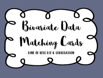 Bivariate Data Matching Cards