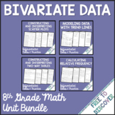 Bivariate Data Notes and Practice Bundle | Distance Learning