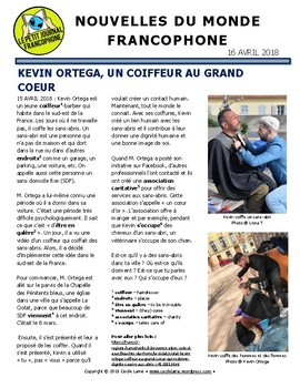Biweekly news summaries for French students: April 15, 2018