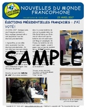 Biweekly news summaries for French students: April 23, 2017