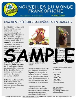 Biweekly news summaries for French students: April 9, 2017