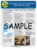 Biweekly news summaries for French students: December 10, 2016